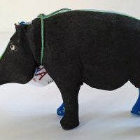 Recycled Flip Flop Hippo