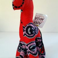 Red the stuffed Giraffe