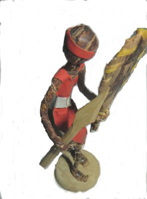 Banana Fiber Maasai Warrior