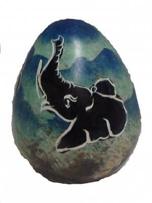 Soapstone Elephant Egg