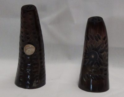 Horn Salt and Pepper Shakers