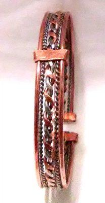 Twisted metal bangle bracelet