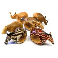 Set of 6 Hand made Animal Napkin Rings