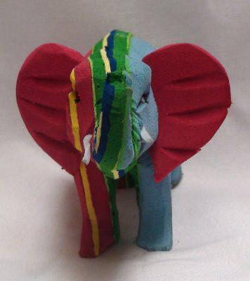 Kali Recycled Flip Flop Elephant