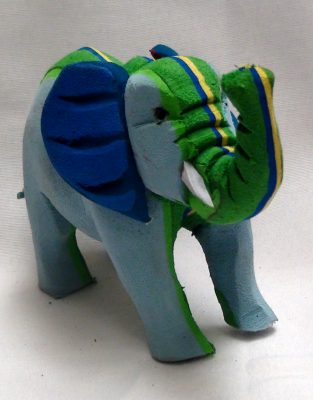 Wrinkle a Recycled Flip Flop Elephant