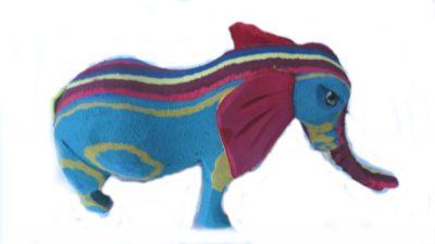Recycled Flip Flop elephant