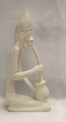 Sipping Sam - a soapstone figurine