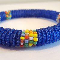 Rounde Beaded Blue Bracelet