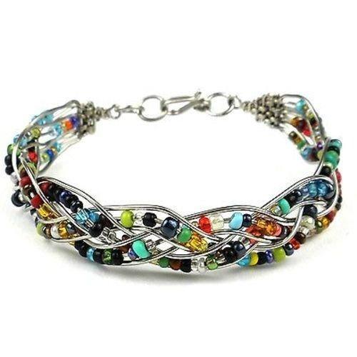Seed Bead Wire Bracelet