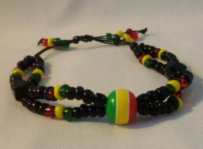 String Tie Rasta Bracelet