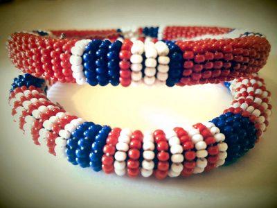 USA Pride Beaded Bracelet Set