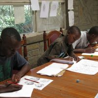 JWHS school children writing letters