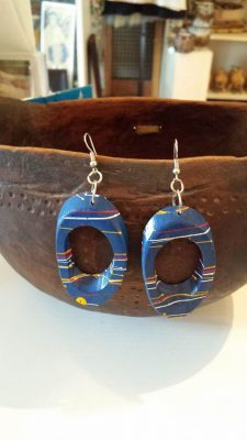 Blue Bamboo Earrings