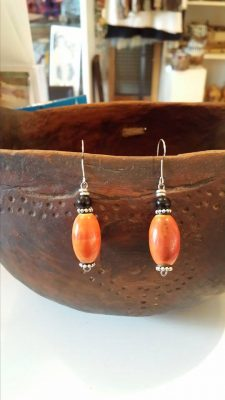 Orange Ceramic Earrings