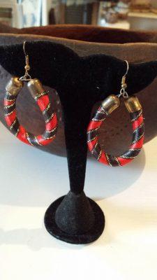 Red Ribbon Earrings