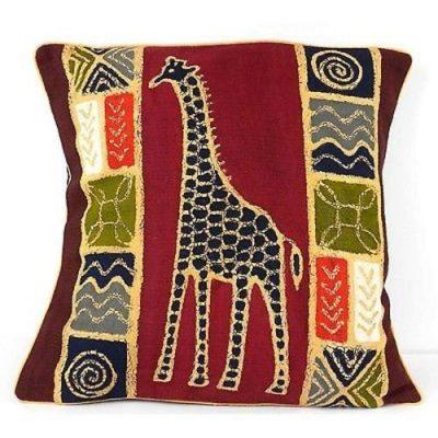 Giraffe Batik Pillow Cover