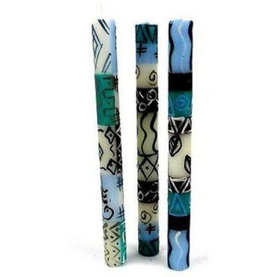 Handpainted Pillar Candle Set Maji Design