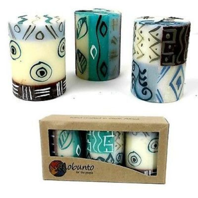 Handpainted Candle Set Maji Design