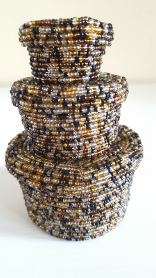 Glass Beaded Nesting Baskets