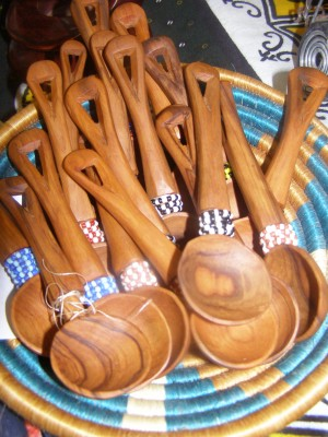 Wooden Beaded Teak Spoon