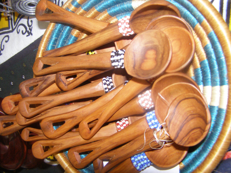 Wooden Beaded Teak Spoon