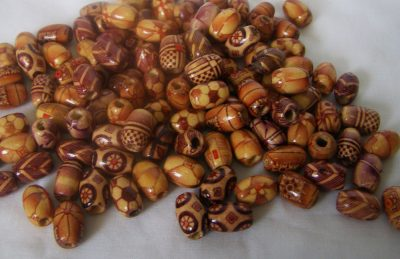 Hand carved wooden beads