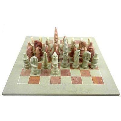 Maasai Warrior chess set