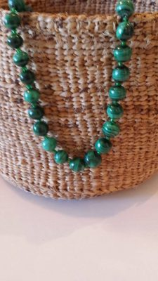Malachite Necklace Green