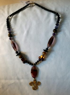 Purple Moonstone Necklace