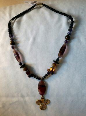 Purple Moonstone Necklace