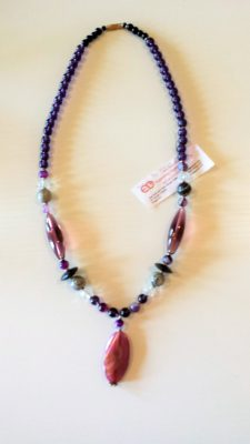 Semi-precious Stone Crystal Necklace