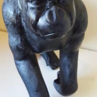 Hand Carved Wooden Gorilla