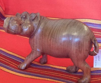 Olive Wood Hippo
