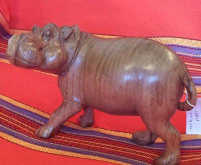 Olive Wood Hippo