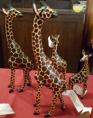 Wood Carved Painted Giraffe