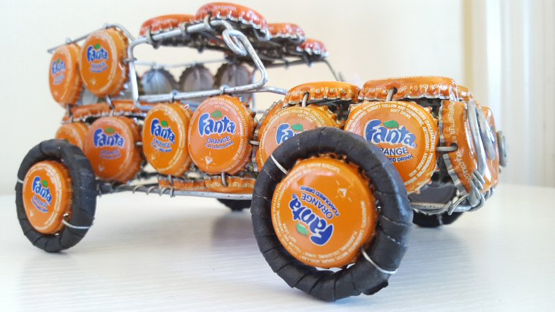 bottlecap car