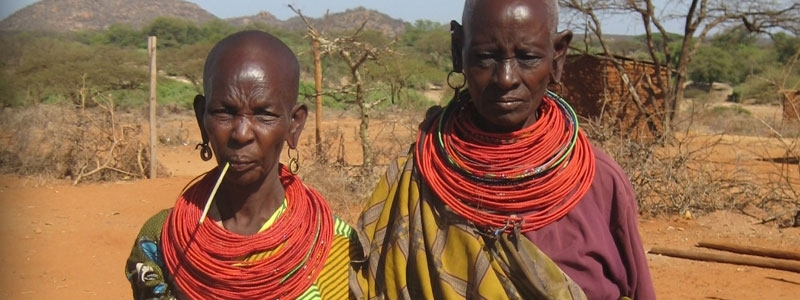 Samburu Couple in indigenous dress