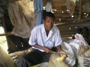 Wood Carver at Wamunyu Handcrafts Society